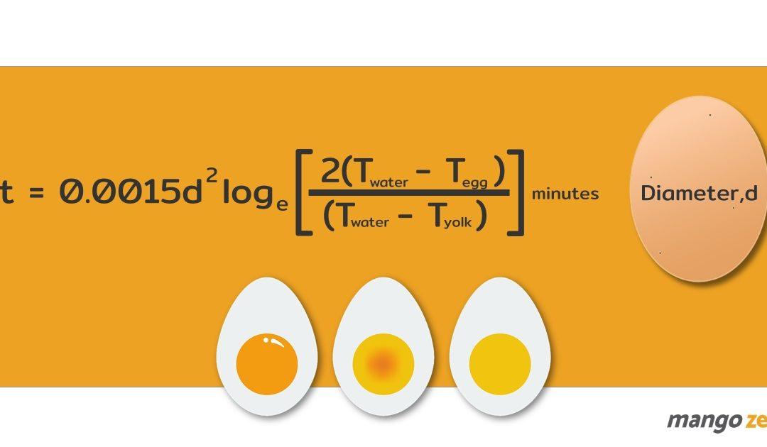 """จริงจังให้สุด """"สูตรการต้มไข่"""" ต้มให้เป๊ะ ต้มให้เทพ ต้องเข้าสูตรแทนค่า"""