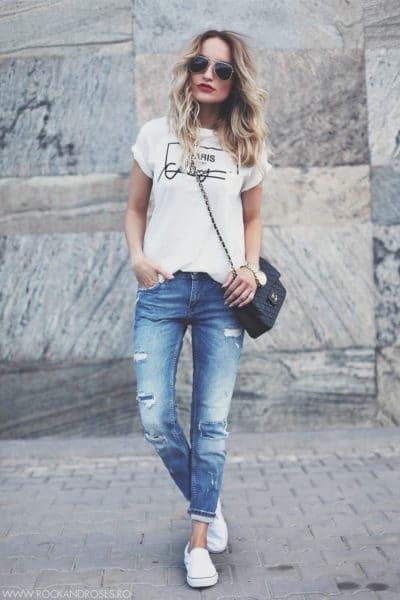 jeans-shirt-woman