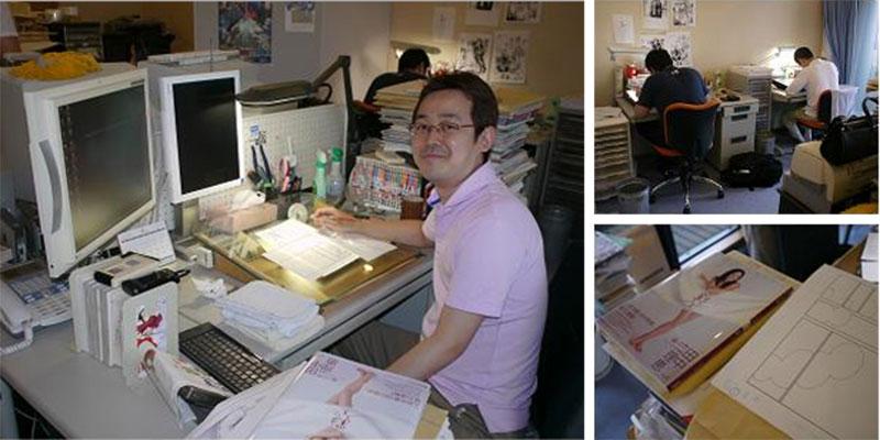mangaka-desk-akamatsu-ken