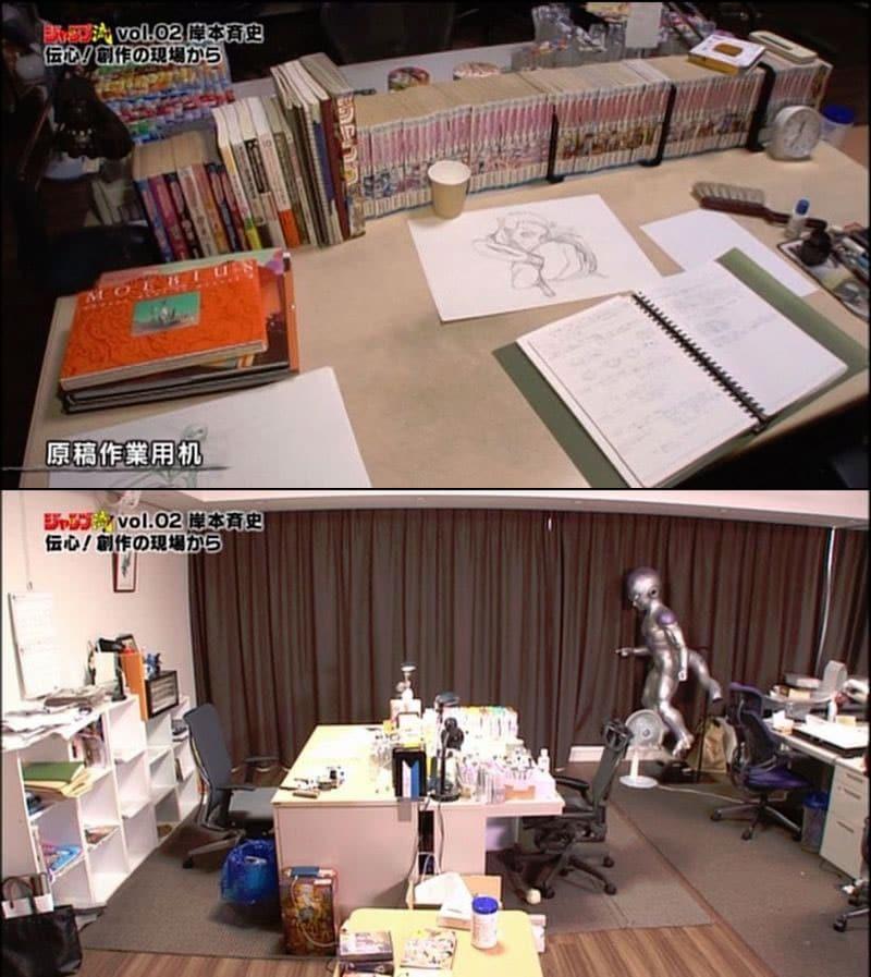 mangaka-desk-masashi-kishimoto
