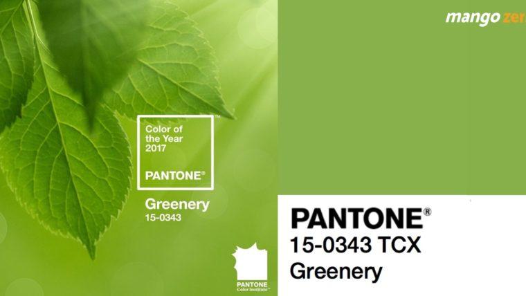 Pantone ประกาศแล้ว ให้สีเขียว Greenery เป็นสีแห่งปี 2017