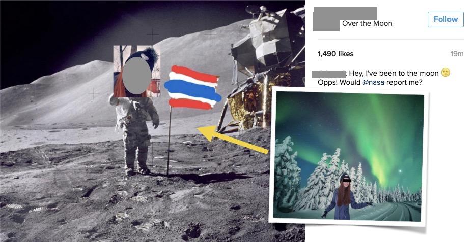 อดีตแอร์คนดัง #ticha_ek ปลดล็อค IG แล้ว พร้อมโพสต์ภาพโชว์เคยไปดวงจันทร์มา !?