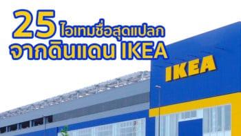 25 ไอเทมชื่อสุดแปลกจากดินแดน IKEA บ้านใครมีตัวไหนมั่งมาแชร์กัน
