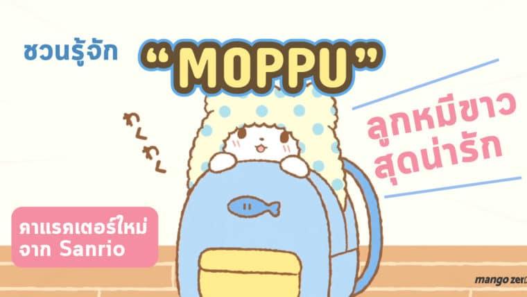 """ชวนรู้จัก """"Moppu"""" ลูกหมีขาวสุดน่ารัก คาแรคเตอร์ใหม่จาก Sanrio"""