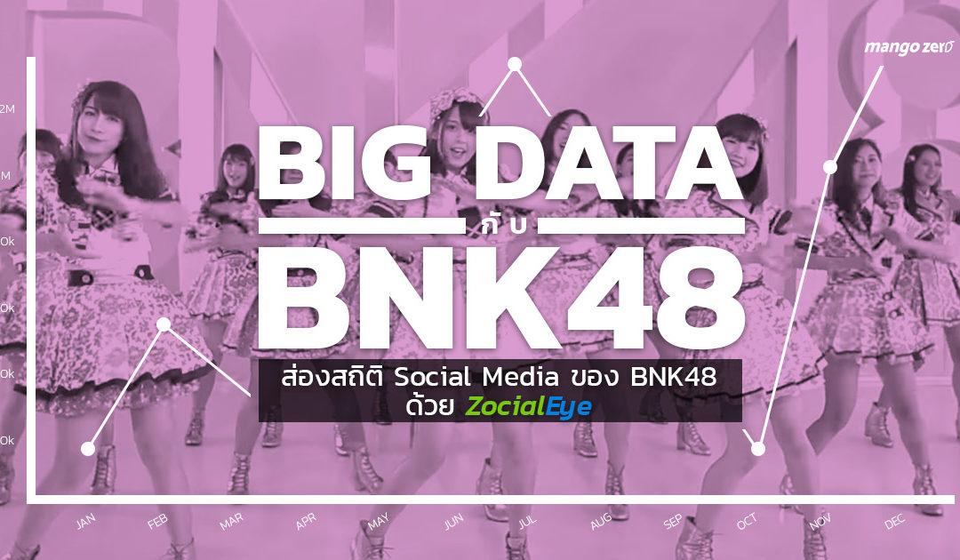 Big Data กับ BNK48 : ส่องสถิติและวิเคราะห์กระแสของ BNK48 ในโลกออนไลน์ช่วงครึ่งปีหลัง 2017 ด้วย Zocial Eye