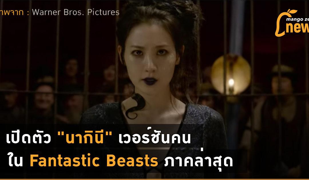 """เปิดตัว """"นากินี"""" เวอร์ชันคน ใน Fantastic Beasts ภาคล่าสุด"""
