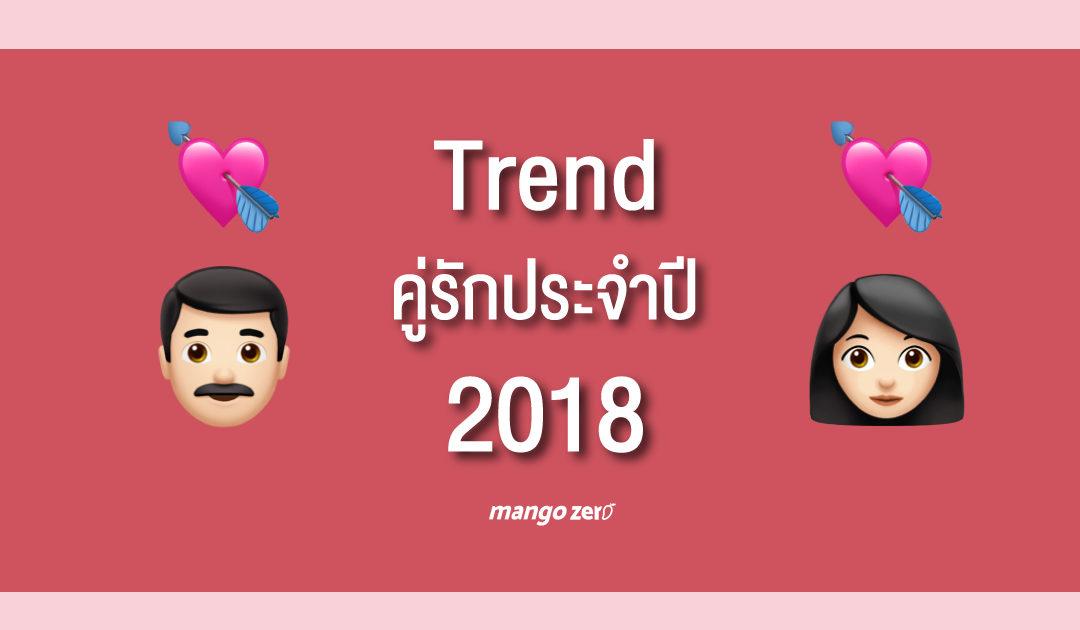 """สำรวจ """"Trend คู่รักประจำปี 2018"""" มาดูกันว่าปีนี้สถิติหาคู่รักเป็นอย่างไรบ้าง"""