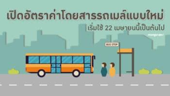 เปิดอัตราค่าโดยสารรถเมล์แบบใหม่ เริ่มใช้ 22 เมษายนนี้เป็นต้นไป