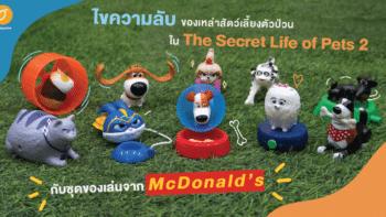 ไขความลับของเหล่าสัตว์เลี้ยงตัวป่วนใน The Secret Life of Pets 2 กับชุดของเล่นจาก McDonald's