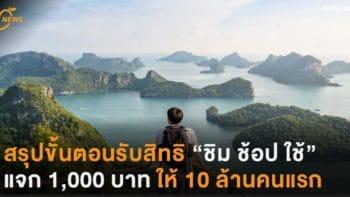 """สรุปขั้นตอนรับสิทธิ """"ชิม ช็อป ใช้"""" 1,000 บาท ให้ 10 ล้านคนแรก"""