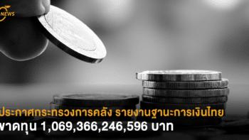 ประกาศกระทรวงการคลัง รายงานฐานะการเงินไทยล่าสุด ขาดทุน 1,069,366,246,596 บาท