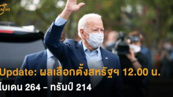 Update: ผลเลือกตั้งสหรัฐฯ อย่างไม่เป็นทางการ 12.00 น.วันนี้ (ตามเวลาไทย) ไบเดน 264 : ทรัมป์ 214