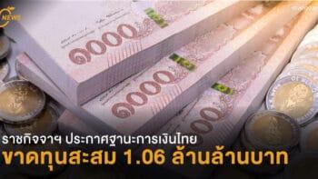 เผยฐานะการเงินธ.แห่งประเทศไทย ขาดทุนสะสม 1.06 ล้านล้านบาท