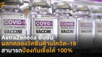 AstraZeneca ยืนยัน ผลทดลองวัคซีนต้านโควิด-19 สามารถป้องกันเชื้อได้ 100%