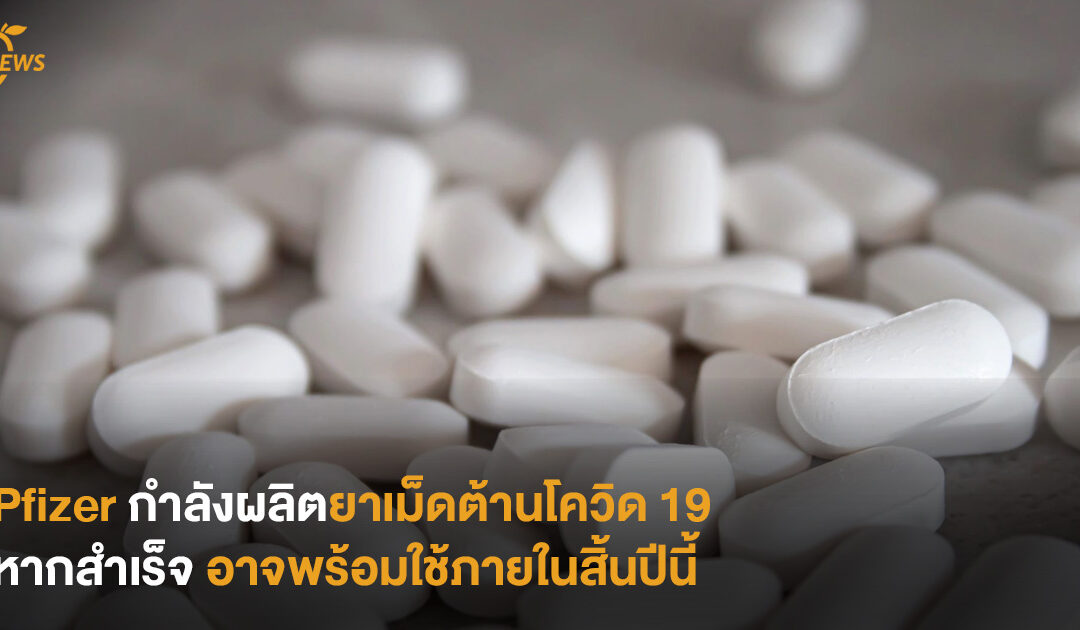 Pfizer กำลังผลิตยาเม็ดต้านโควิด 19 หากสำเร็จ อาจพร้อมใช้ภายในสิ้นปีนี้